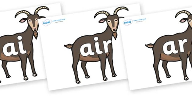 Phase 3 Phonemes on Big Billy Goats - Phonemes, phoneme, Phase 3, Phase three, Foundation, Literacy, Letters and Sounds, DfES, display
