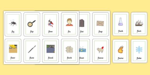 FL Flash Cards - sen, sound, special educational needs, fl, flash cards