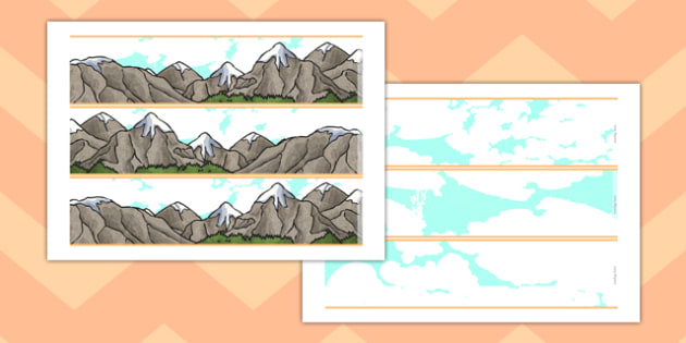 Magnificent Mountains Display Borders - magnificent, mountains, display