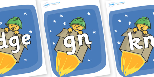 Silent Letters on Rockets (Whatever Next) to Support Teaching on Whatever Next! - Silent Letters, silent letter, letter blend, consonant, consonants, digraph, trigraph, A-Z letters, literacy, alphabet, letters, alternative sounds
