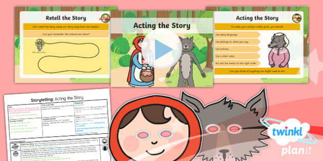 PlanIt Y1 Traditional Tales: Little Red Riding Hood Lesson Pack Storytelling (2)