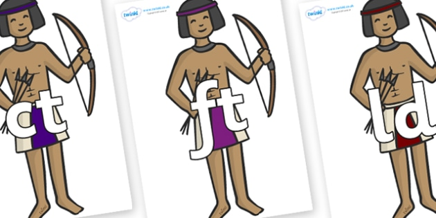 Final Letter Blends on Egyptian Archers - Final Letters, final letter, letter blend, letter blends, consonant, consonants, digraph, trigraph, literacy, alphabet, letters, foundation stage literacy