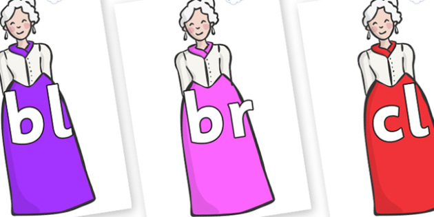 Initial Letter Blends on Dames - Initial Letters, initial letter, letter blend, letter blends, consonant, consonants, digraph, trigraph, literacy, alphabet, letters, foundation stage literacy