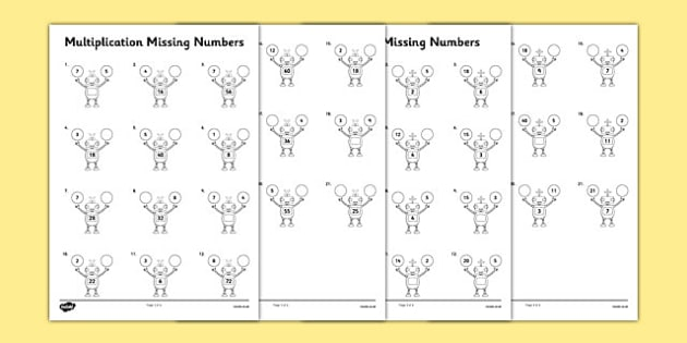Pre School Worksheets multiplication and division inverse – Division Worksheets Ks1