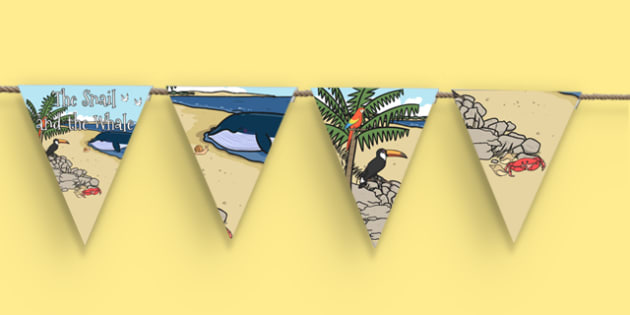 The Snail and the Whale Display Bunting - the snail and the whale, display bunting, display, bunting