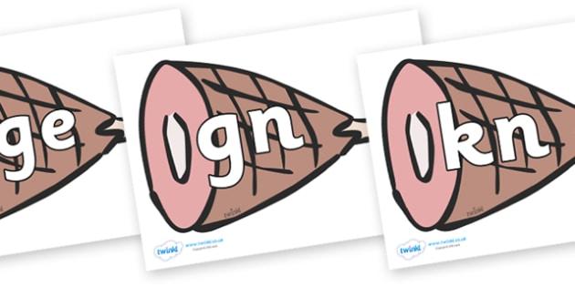 Silent Letters on Hams - Silent Letters, silent letter, letter blend, consonant, consonants, digraph, trigraph, A-Z letters, literacy, alphabet, letters, alternative sounds