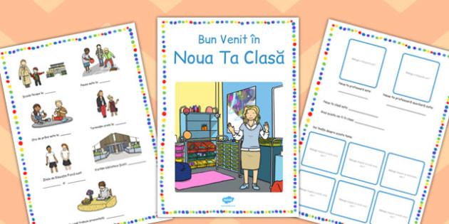 Brosura de Bun Venit in Clasa ta Noua - nou an scolar, primar, Romanian