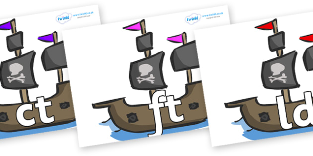 Final Letter Blends on Pirate Ships - Final Letters, final letter, letter blend, letter blends, consonant, consonants, digraph, trigraph, literacy, alphabet, letters, foundation stage literacy