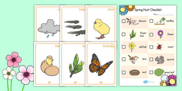 Spring Hunt Activity Pack - spring, hunt, activity, pack, group