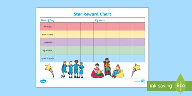 Star Day Reward Chart - celebrate, reward, behaviour, record, award, super, good, improve, monitor, progress, ks1, key stage, ks2, individual, pupil