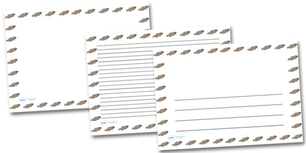 Platypus Landscape Page Borders- Landscape Page Borders - Page border, border, writing template, writing aid, writing frame, a4 border, template, templates, landscape