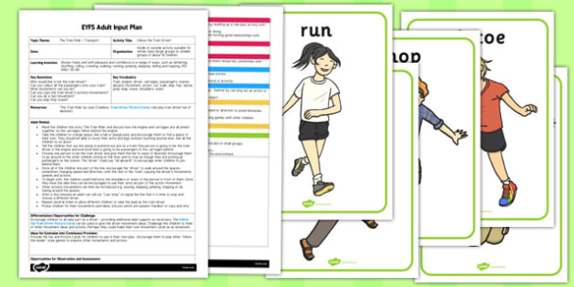 Follow the Train Driver EYFS Adult Input Plan and Resource Pack