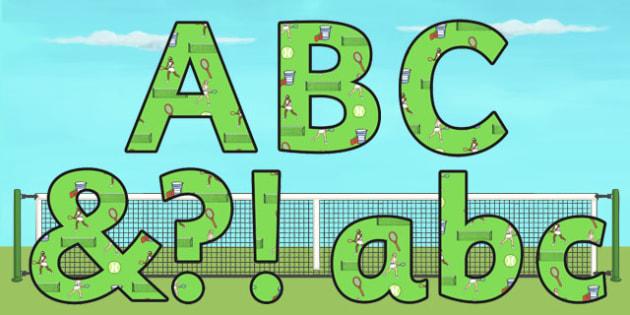 Wimbledon Display Lettering - sports, pe, tennis, sport, letters
