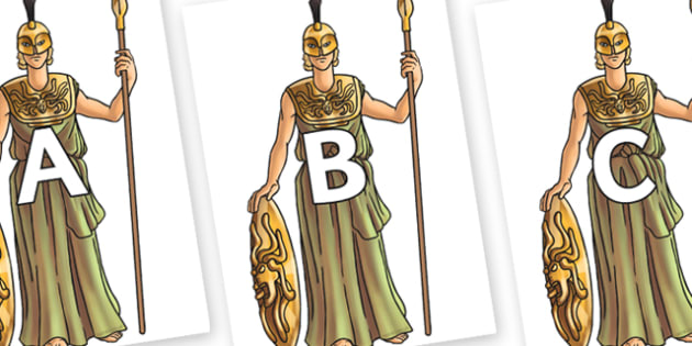 A-Z Alphabet on Athena - A-Z, A4, display, Alphabet frieze, Display letters, Letter posters, A-Z letters, Alphabet flashcards