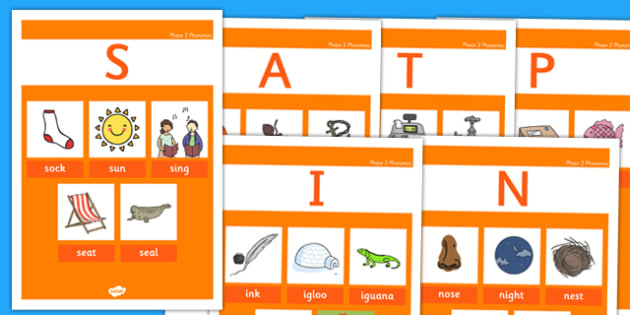 Phase 2 Phonemes Display Posters - phase, 2 , phonemes, display, posters , phonics, letters, sounds, satpin