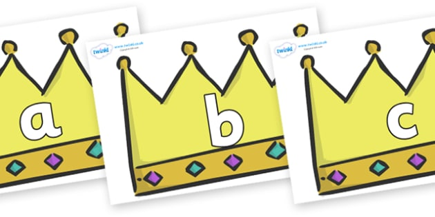 Phoneme Set on Crowns (Plain) - Phoneme set, phonemes, phoneme, Letters and Sounds, DfES, display, Phase 1, Phase 2, Phase 3, Phase 5, Foundation, Literacy