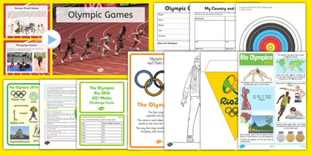 Top 10 Rio Olympics Resource Pack