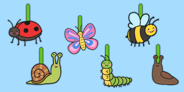 Writing Finger Spacers minibeast - education, home school, free