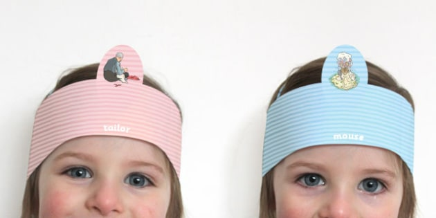 The Tailor of Gloucester Role Play Headbands - tailor, gloucester