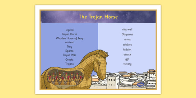 The Legend of The Trojan Horse Word Mat - the legend of the trojan horse, word mat, trojan horse, ancient greek