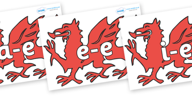 Modifying E Letters on Welsh Dragons - Modifying E, letters, modify, Phase 5, Phase five, alternative spellings for phonemes, DfES letters and Sounds