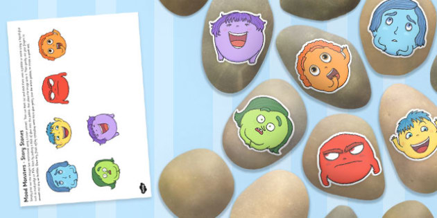 Mood Monsters Story Stone Image Cut Outs - mood monsters, story stone