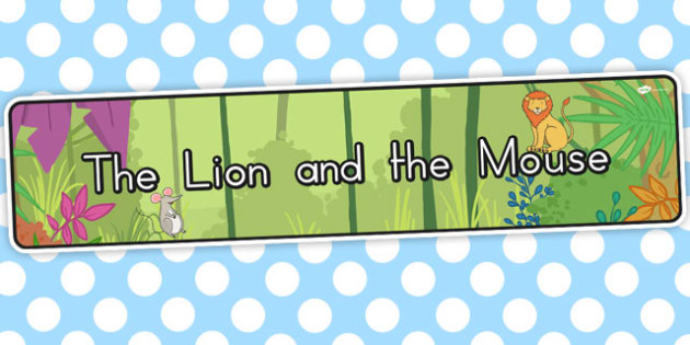 The Lion and the Mouse Display Banner - australia, display banner