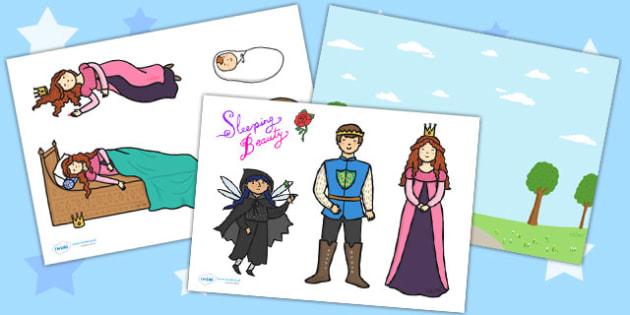Sleeping Beauty Story Cut Outs - sleeping beauty, story, cut outs