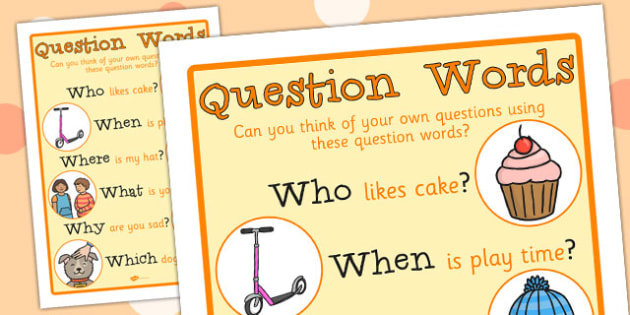 Question Words Large Display Poster - questions, class display