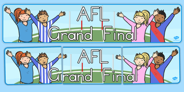 AFL Australian Football League Grand Final Display Banner - australian, sport, event, national, competition, celebration, images,
