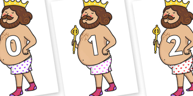 Numbers 0-31 on Naked Emperor - 0-31, foundation stage numeracy, Number recognition, Number flashcards, counting, number frieze, Display numbers, number posters