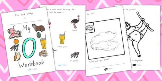My Workbook O Lowercase - letter formation, writing, tracing
