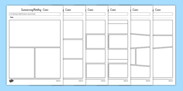 Summarising and Retelling Comic Storyboard Template