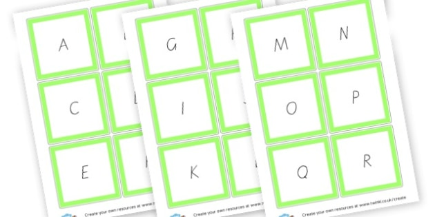 Uppercase and Lowercase Flashcards - Alphabet Cards & Mats Primary Resources, letters, letter, word mat