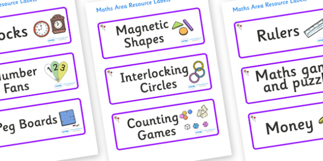 Lollipops Themed Editable Maths Area Resource Labels - Themed maths resource labels, maths area resources, Label template, Resource Label, Name Labels, Editable Labels, Drawer Labels, KS1 Labels, Foundation Labels, Foundation Stage Labels, Teaching L