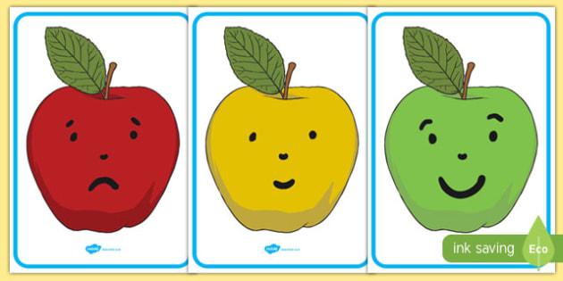 Behaviour Management Apple Traffic Light Cards - traffic, cards