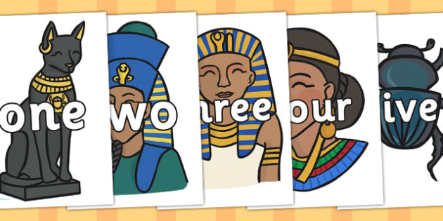 One to Twenty on Ancient Egyptian Pictures - ancient egyptian, twenty, one