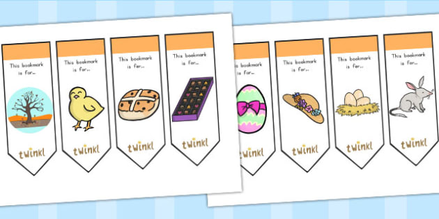 Easter Bookmarks - easter, bookmarks, reading, read, literacy