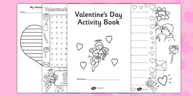 Valentine's Day Themed Activity Book - valentines, day, activity