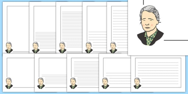 Marie Curie Themed Page Borders - marie curie, themed, page borders