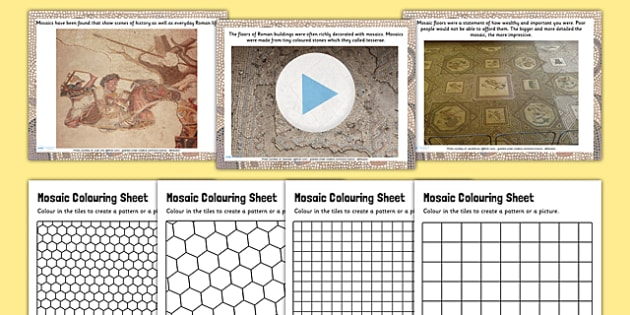 Roman Mosaics Lesson Teaching Pack PowerPoint - romans, history