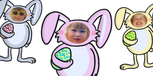 Editable Easter Bunny Self Registration Photo Frames - self registration, self-registration, editable, editable labels, easter bunny, easter rabbit, editable easter bunny, self reg photo frames, easter bunny self reg, editable self registration label