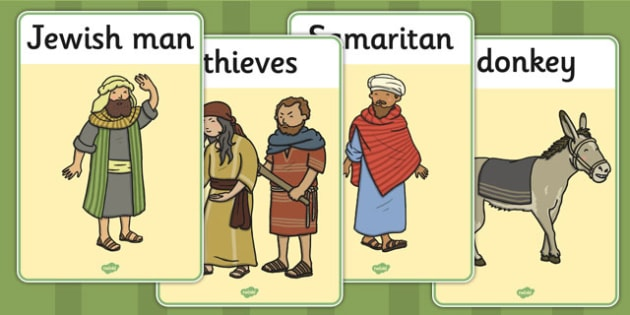 The Good Samaritan Display Posters - the good samaritan, samaritan, help, helping, display, posters, sign, jewish, thieves, bible story, Jesus, priest, Levite, kind, good samartian