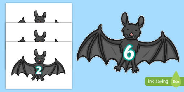 0 to 20 on Bats - 0-20, bats, animals, numbers, 20, numerals, display