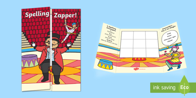 Circus Themed Blank Spelling Zapper - spelling zapper, spell, spelling, zapper, dyslexic, dyslexia, learn, tricky words, personalise, words, blank, circus