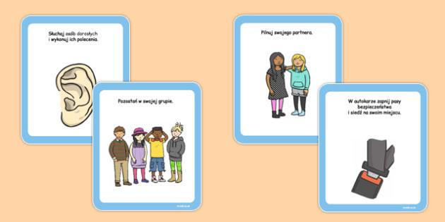 Karty z instrukcjami Wycieczka szkolna po polsku