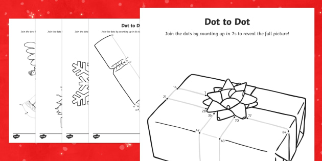 Join the Dots Christmas Multiplication Tables - join the dots, dot to dot, christmas, multiplication, table
