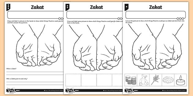 Zakat Differentiated Activity Sheet - zakat, muslim, islam, activity sheet, differentiated, worksheet