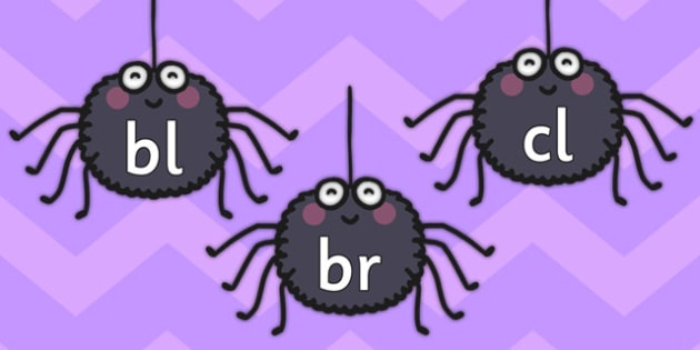 Blends and Clusters on Spiders Display Cards - blends, clusters, spiders, minibeast, display