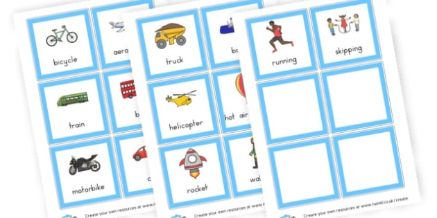 Transport EAL Cards - Transport Activities Primary Resources, activities, colouring